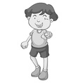 Boy pointing vector image vector image
