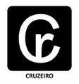 brazilian cruzeiro currency symbol vector image vector image