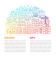 building line template vector image