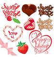 calligraphy sweet set 380 vector image vector image