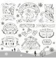 ChristmasNew Year 2016 decorationslabelsLinear vector image vector image