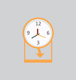 Clock Icon 2 vector image