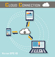 cloud connection vector image