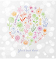 colored doodle sketch flowers on white glowing vector image vector image