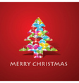 Colorful butterflies make a christmas tree vector image vector image