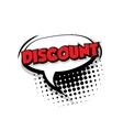 Comic text discount sound effects pop art vector image vector image