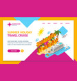 cruise ships travel and tourism concept landing vector image vector image