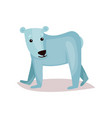 cute polar bear cub cartoon vector image