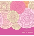 doodle circle texture horizontal frame seamless vector image