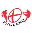 england rugby poster vector image vector image