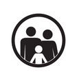 family icon parents and kid vector image vector image