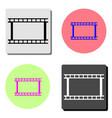 film strip flat icon vector image vector image