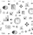 flat industrial business icons seamless vector image vector image