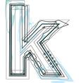 Font letter k vector image