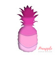 fruit pineapple silhouette cut out paper art vector image