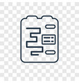 gantt concept linear icon isolated on transparent vector image