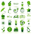 Green Eco Icons 3 vector image