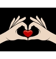 Hands heart sign vector image vector image