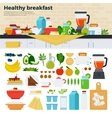 Healthy breakfast on the table in kitchen vector image vector image