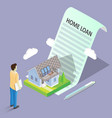 home loan concept isometric vector image