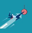 leader businessman target vector image vector image