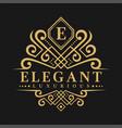 letter e logo - classic luxurious style logo vector image