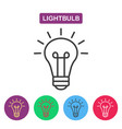 lightbulb isolated line icon pictogram vector image vector image