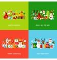 Merry Christmas Greeting Set vector image vector image