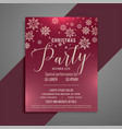 merry christmas party celebration flyer design vector image