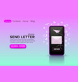 mobile email message chat internet web site vector image vector image