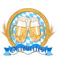 Oktoberfest label design vector image vector image