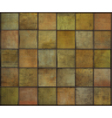 orange square tile grunge circle pattern backgroun vector image vector image
