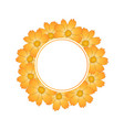 orange yellow cosmos flower banner wreath vector image vector image