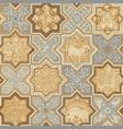 oriental tiles seamless pattern vector image vector image