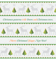 pattern deer and trees like cross-stitch vector image vector image