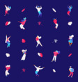people dancing and playing musical instruments vector image
