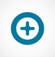 plus bold blue border circle icon vector image vector image