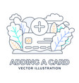plus button and credit card stock isolated on a vector image vector image
