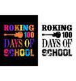 roking 100 days school teacher t-shirt design