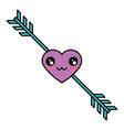 romantic bow arrow vector image vector image
