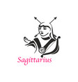 sagittarius woman vector image