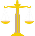 scales justice icon empty scales law balance vector image