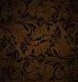 Seamless Brown Floral Background vector image vector image