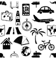 seamless doodle travel pattern vector image