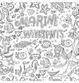 seamless pattern marine inhabitants vector image vector image