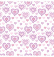 seamless pattern with light pink hearts vector image vector image