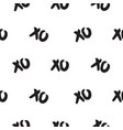 seamless pattern with xoxo words vector image vector image