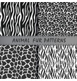 seamless patterns set with animal skin texture vector image vector image