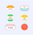 set of new colorful label sticker vector image
