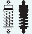 Shock absorber vector image